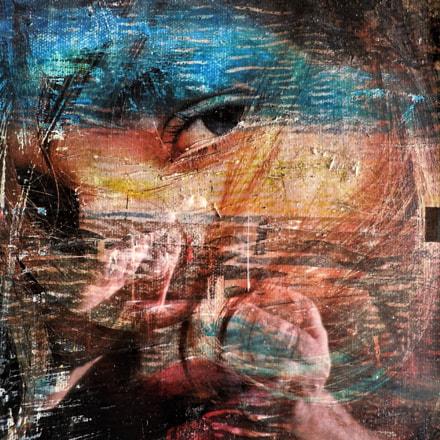 foto pittorica volto di, Nikon COOLPIX S6000