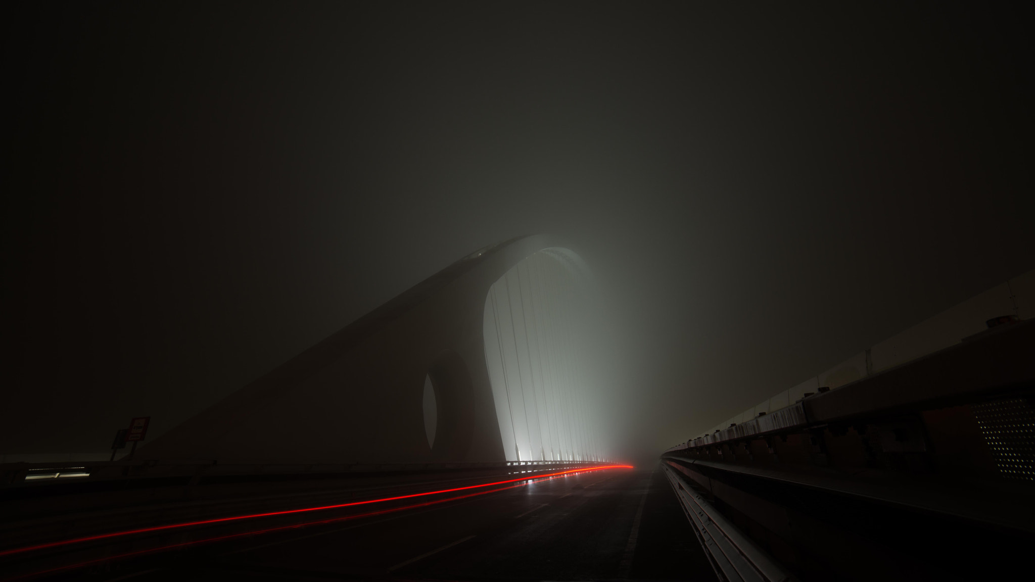 Photograph Calatrava into the Fog by Michele Fornaciari on 500px