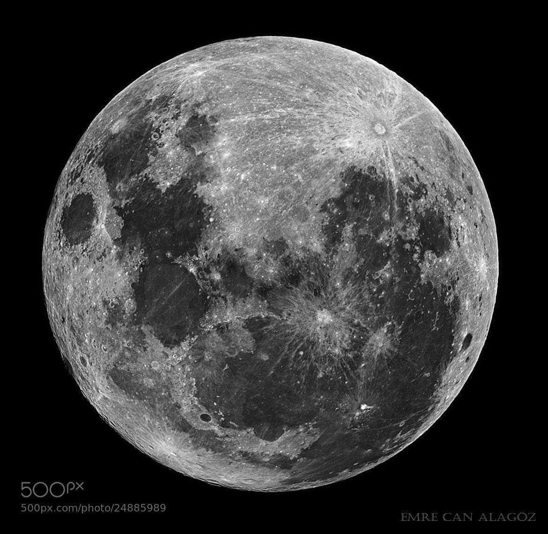 Photograph Moon Through My Telescope by Emre Alagöz on 500px