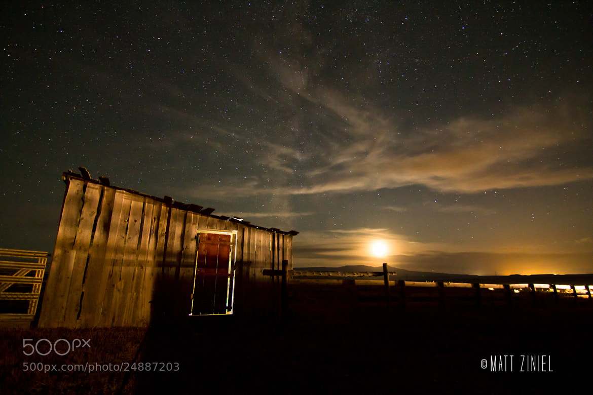 Photograph Colorado Ranch Under the Night Sky by Matt Ziniel on 500px