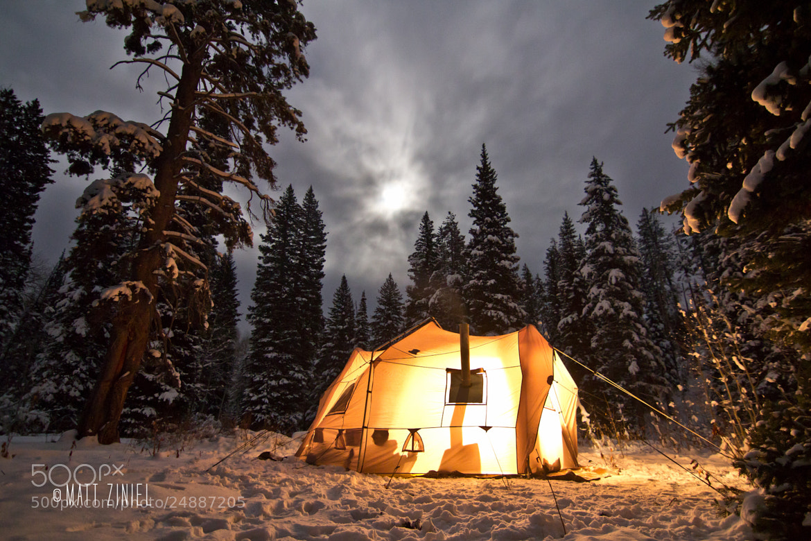 Photograph Winter Moon from Camp by Matt Ziniel on 500px