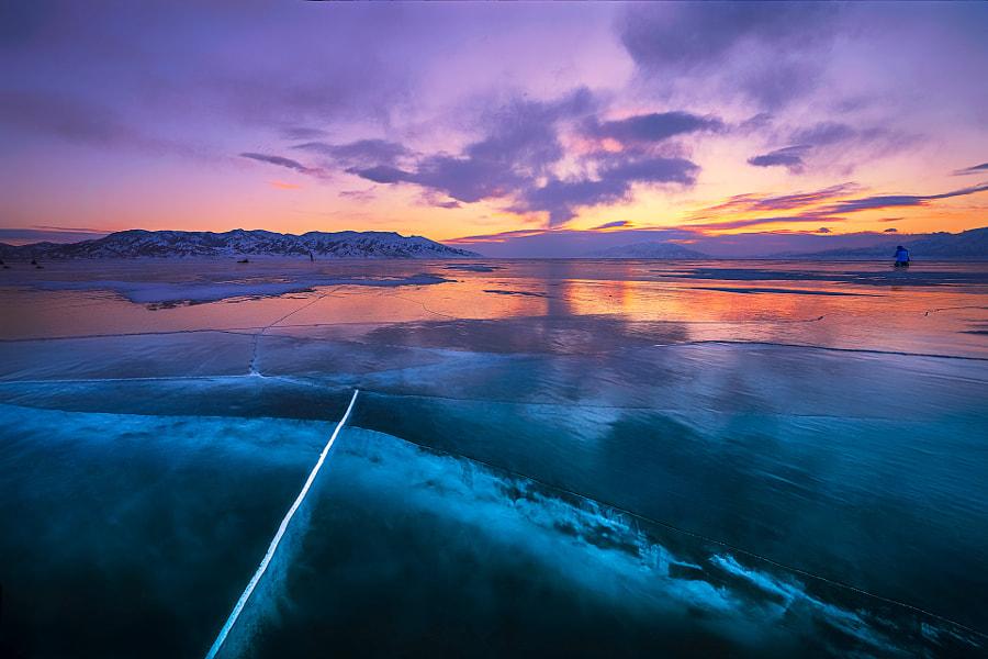 赛里木湖的冰裂, автор — LYPF  на 500px.com