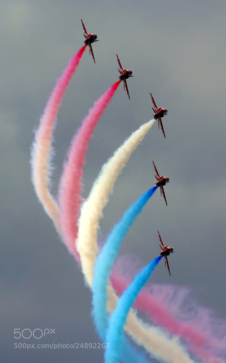Photograph Red Arrows Dark by Tom Green on 500px