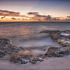 A long exposure sunset from Vista Blue, Bonaire.