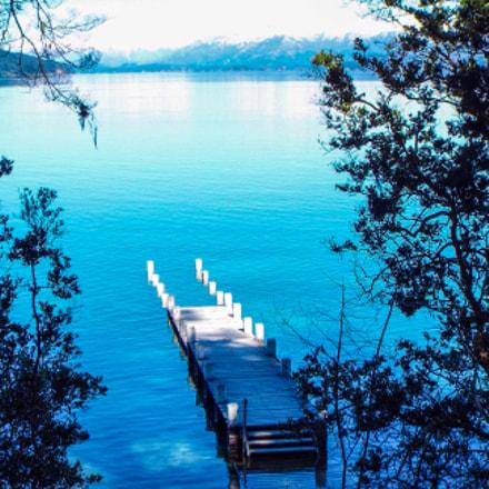 Pier in a lake, Fujifilm FinePix S8200