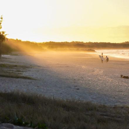Afternoon Beach Scene Noosa, Panasonic DMC-FX2