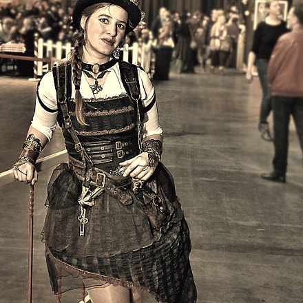 Sassi  on Steampunkt Party, Canon EOS 60D, Sigma 17-70mm f/2.8-4.5 DC Macro