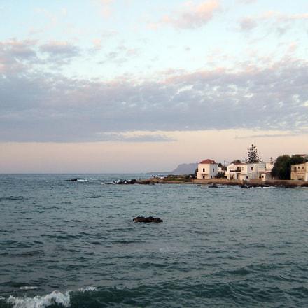 town sea sunset, Canon DIGITAL IXUS 75
