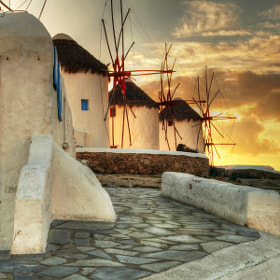 windmills in glow by petros asimomytis (petrosasimomytis)) on 500px.com