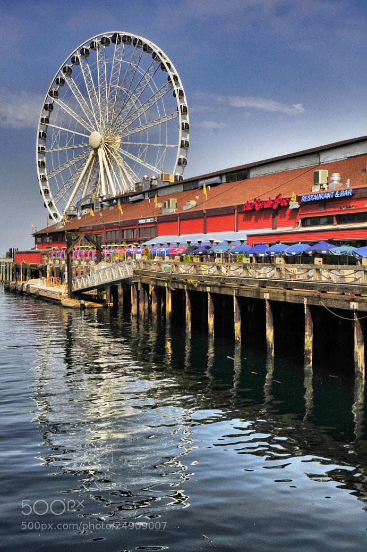 Photograph Seattle's Waterfront - Ferris wheel by Glenn  McGloughlin on 500px
