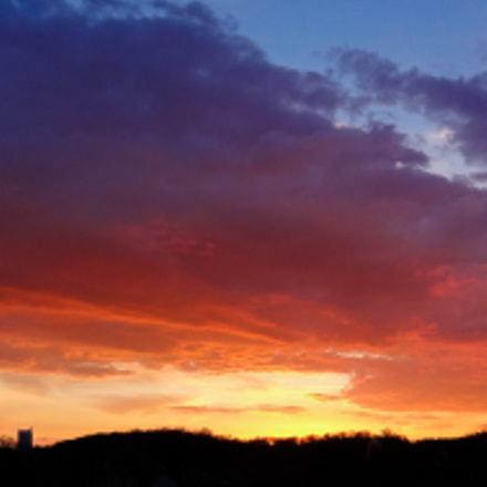 Sunset colors, Sony DSC-HX9V