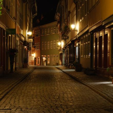 Erfurt at night, Nikon D60, AF-S Nikkor 50mm f/1.8G