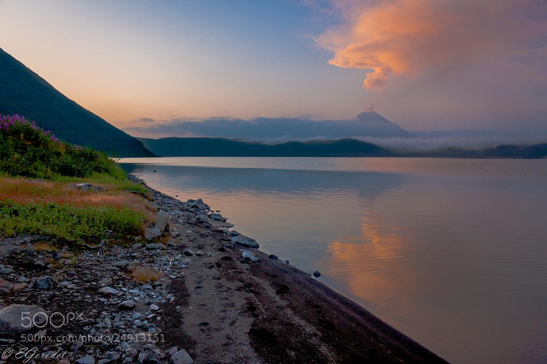 Photograph Volcano Eruption at Karimskoe Lake by Evgeny Gorodetsky on 500px
