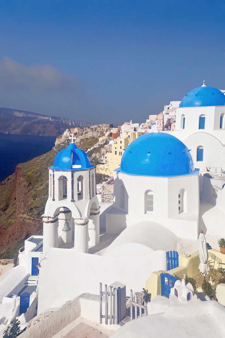 Photograph Blue dome church in Oia by sygnus 000 on 500px