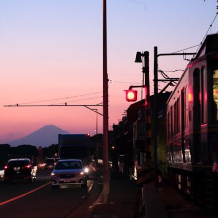 Sunset Mt.Fuji, Canon EOS 6D, Tamron SP 70-300mm f/4.0-5.6 Di VC USD