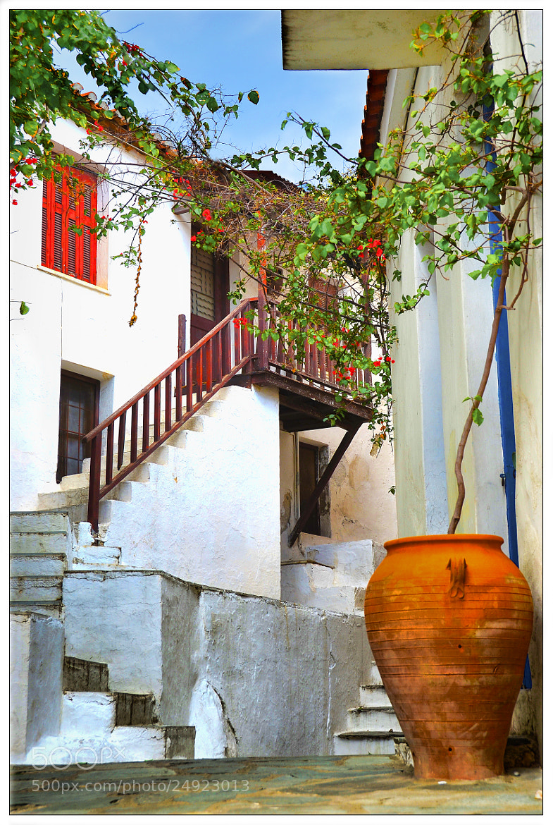 Photograph small street in skiathos icelant by Konstantinos Goulas on 500px
