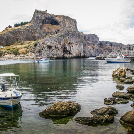 Lindos Harbour, Canon POWERSHOT SX100 IS