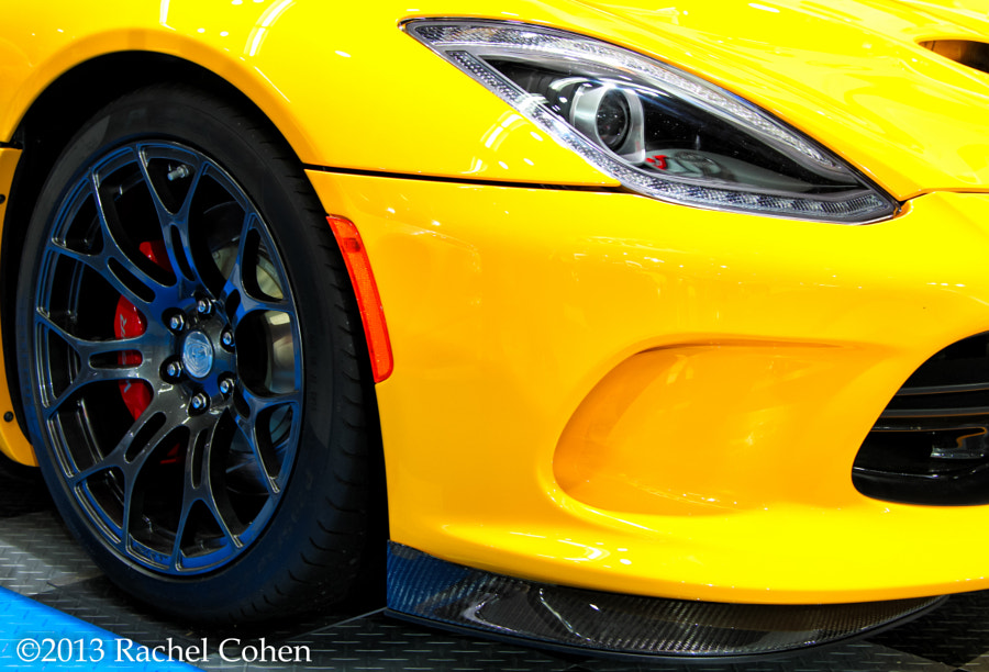 """""""2013 SRT Viper"""" Right Front;  wheel and headlight section."""