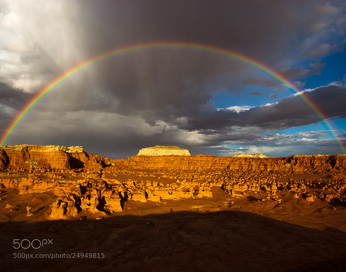 Photograph Rainbow over Goblin Valley by Whit Richardson on 500px