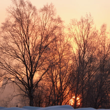 Sunrise and - 24 C, Canon EOS 700D, Canon EF 70-300mm f/4.5-5.6 DO IS USM
