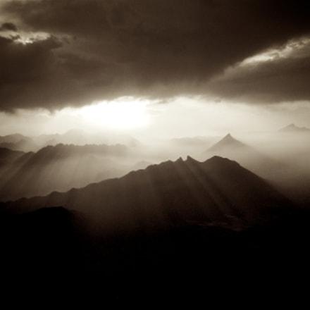 Sunset in Monterrey City, Sony DSC-W80