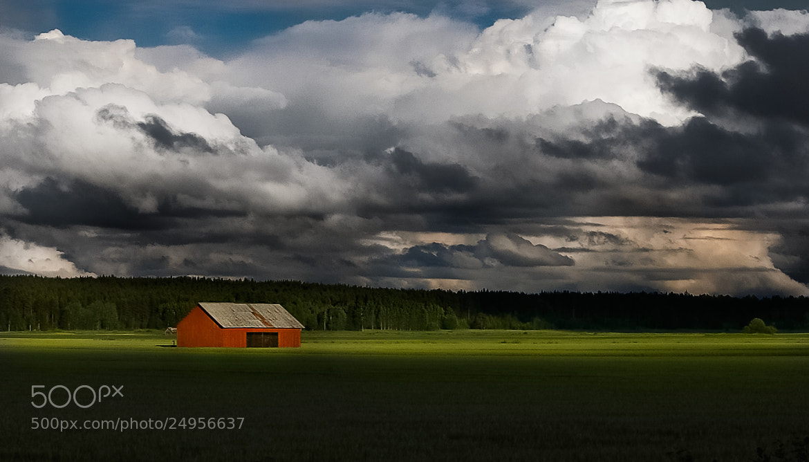 Photograph The Red Barn by Mikael Sundberg on 500px