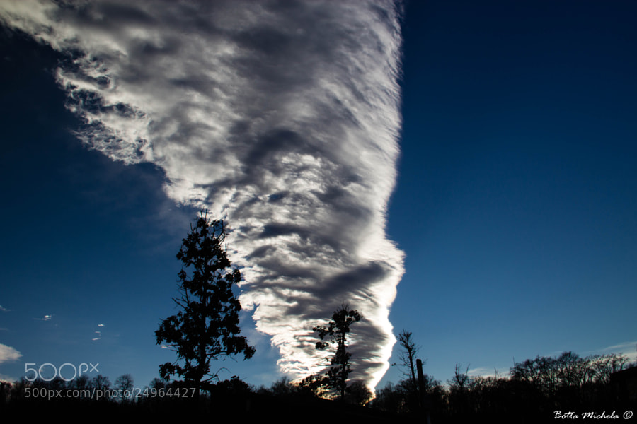 Tornado of clouds