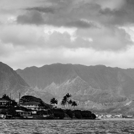 Stormclouds from Kaneohe Bay, Canon POWERSHOT ELPH 100 HS
