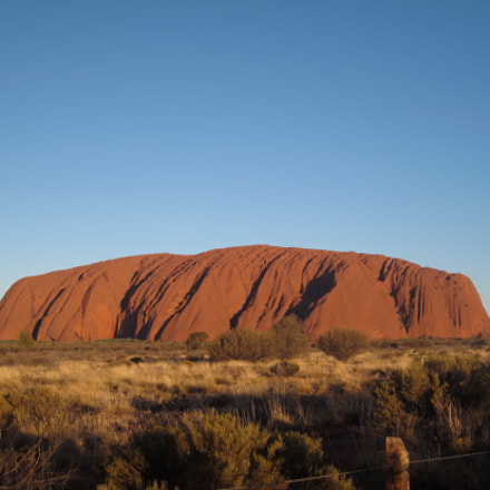 Majestic Uluru at sunset, Canon POWERSHOT SD990 IS