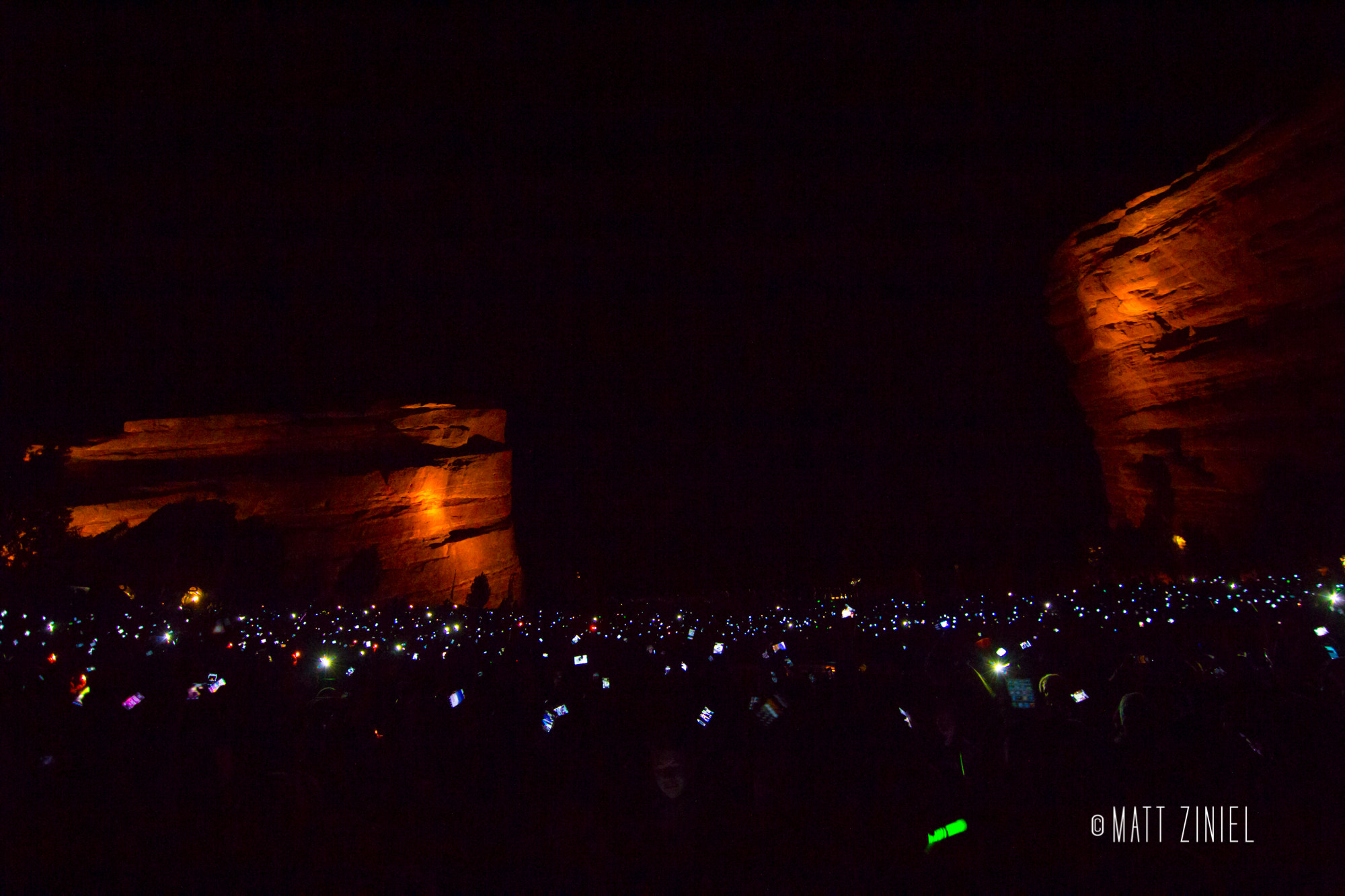 Photograph A Sold Out Red Rocks by Matt Ziniel on 500px
