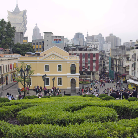 Cityscape of Macau from the Ruins of St Paul...