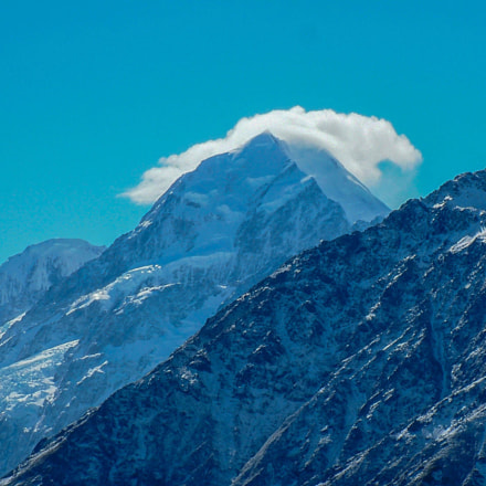 Mount Cook with summit, Fujifilm FinePix S20Pro