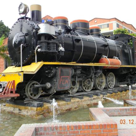 Locomotive at Chipichape, Cali, Nikon COOLPIX L110