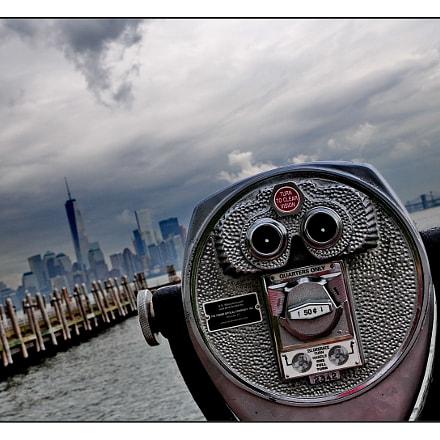 Manhattan from Liberty Island, Nikon D300S, AF-S DX VR Zoom-Nikkor 16-85mm f/3.5-5.6G ED
