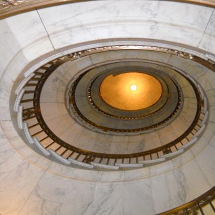 Spiral stairs at Supreme, Nikon COOLPIX L20