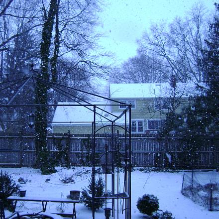 snow storm yard, Sony DSC-S700