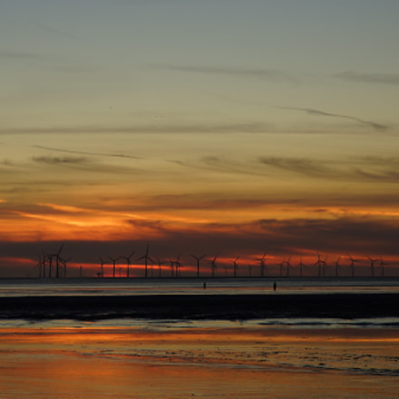 Crosby Beach Sunset, Sony SLT-A99V