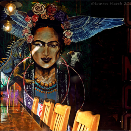 Frida. Mural in Mexican, Panasonic DMC-ZS25