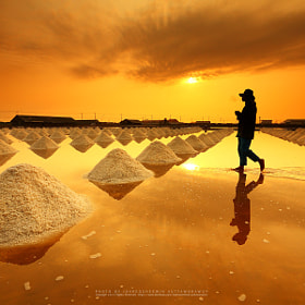 Salt fields, Phetchaburi, Thailand by isarescheewin ) on 500px.com