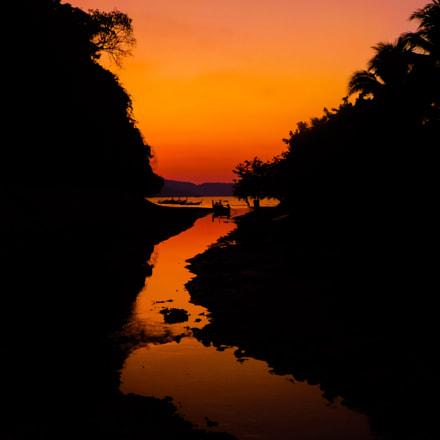 Sunset over a river, Panasonic DMC-TZ30