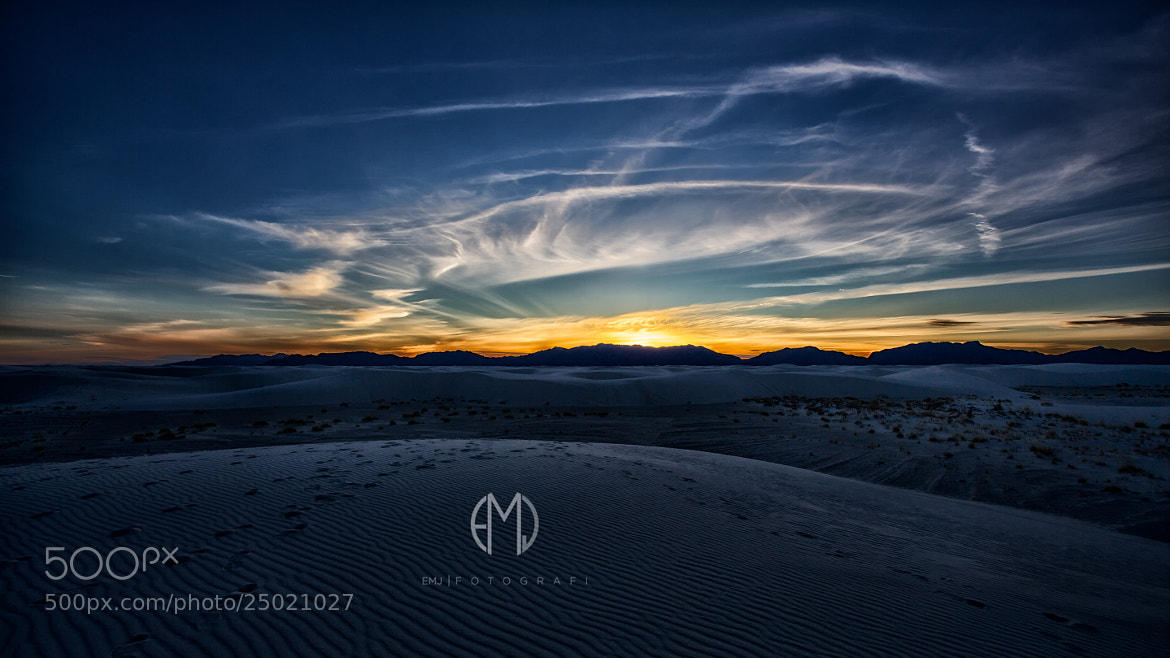 Photograph White Sands Sunset by Matt Johnson / EMJ Fotografi on 500px