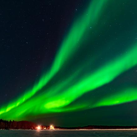 Northern Lights over Great Slave Lake