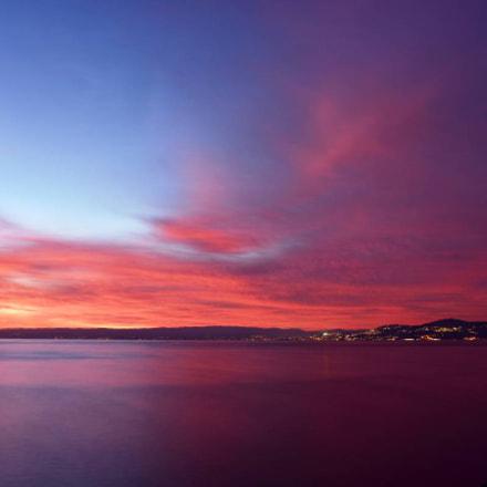 Coucher de soleil depuis, Nikon D750, AF-S Nikkor 28mm f/1.8G