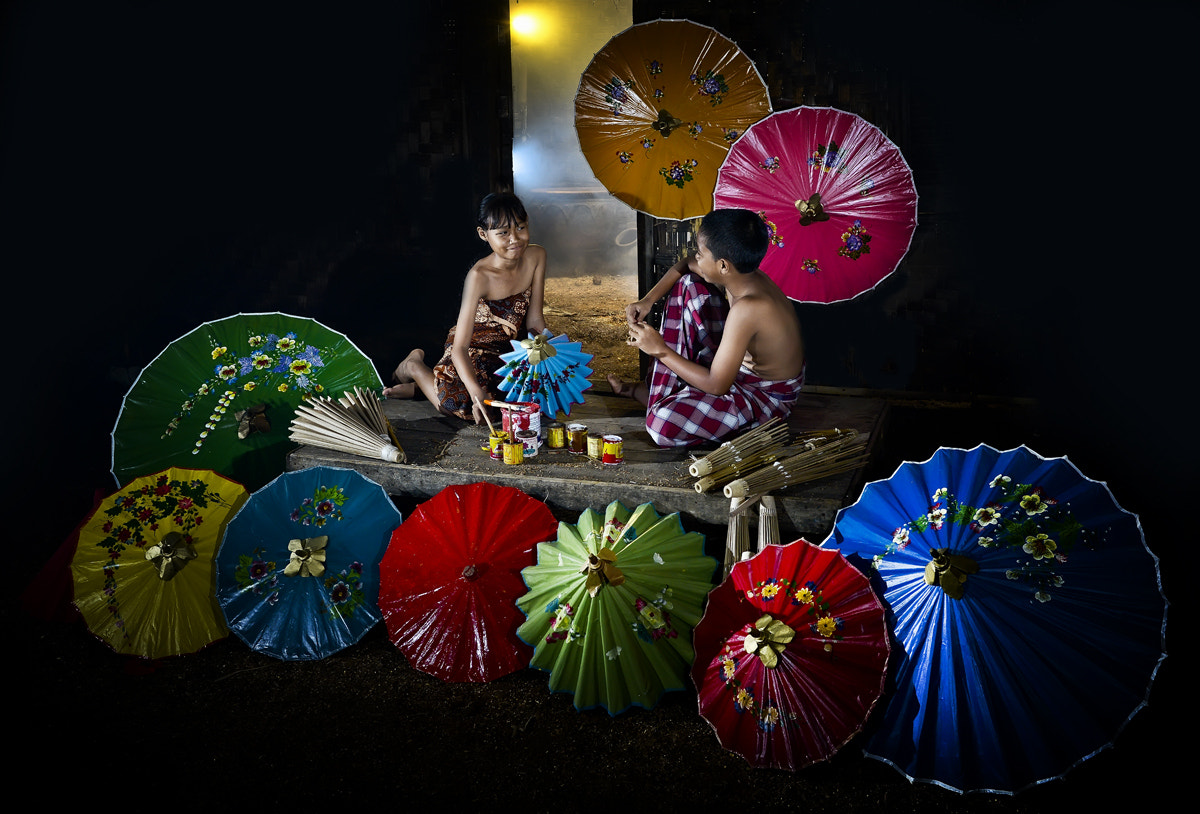 Photograph Children In Umbrella by Pimpin Nagawan on 500px