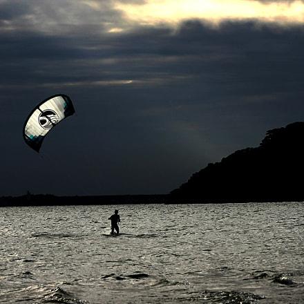 Kitesurfing, Canon EOS REBEL T3, Canon EF 75-300mm f/4-5.6