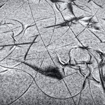 Abstract Art Of Winter II - Traces On The Ice