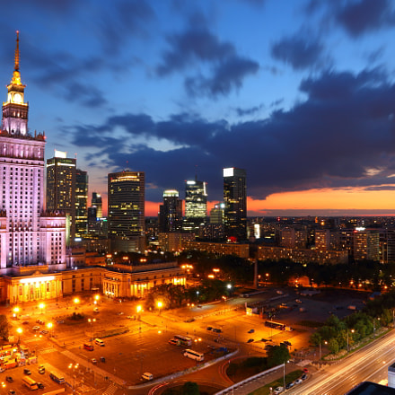 Summer dawn over Warsaw, Canon EOS 70D, Canon EF-S15-85mm f/3.5-5.6 IS USM
