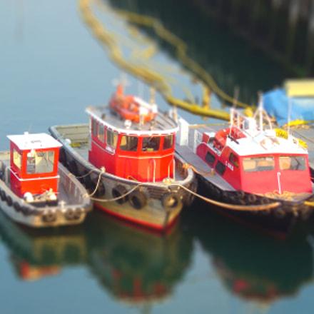 tugboats tiltshift, Sony DSC-P92