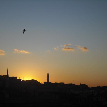 Sundown over Istanbul skyline, Fujifilm FinePix J10