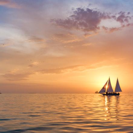 Three sails sunset